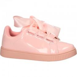 Pantofi roz si satin