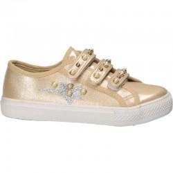 Pantofi trendy aurii, cu...