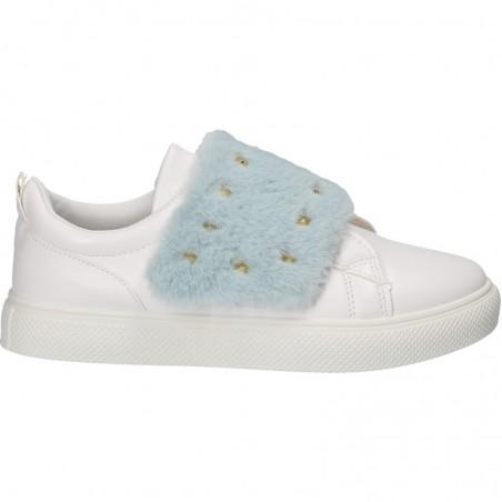 Sneakers trendy, cu blana, pentru tineret