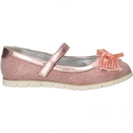 Balerini trendy, roz, cu perle, pentru fete