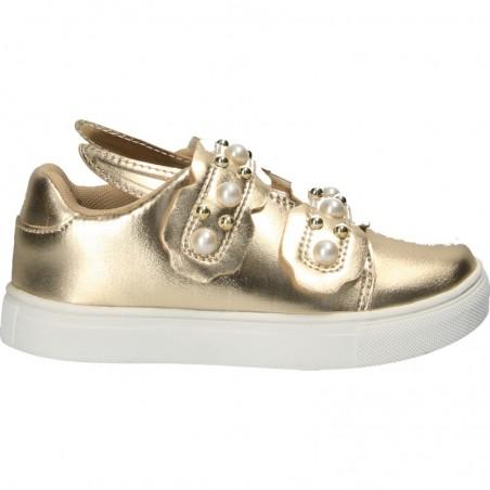 Sneakers aurii, cu urechiuse, pentru fetite