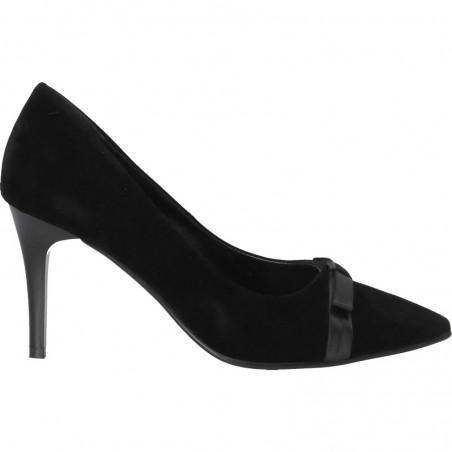 Pantofi de dama, de gala, din catifea neagra