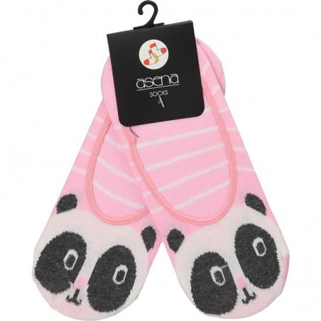 Talpici roz, imprimeu panda, pentru femei