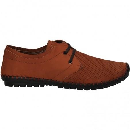 Pantofi barbatesti, maro, din piele naturala