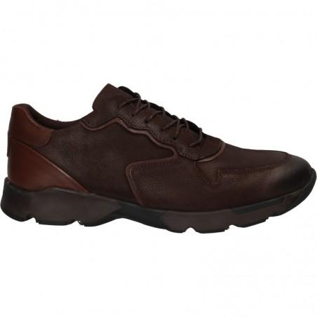 Sneakers barbatesti, maro, piele naturala