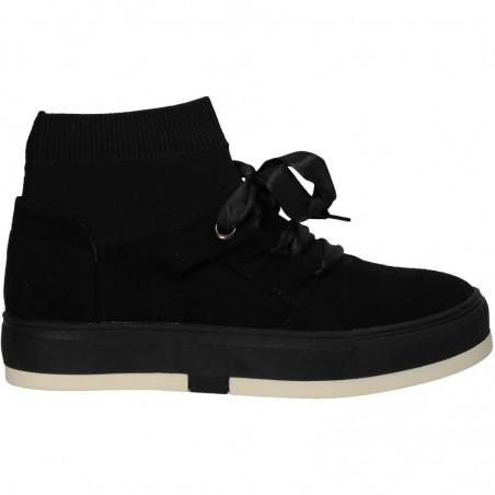 Pantofi Femei, casual, negri, cu tricot