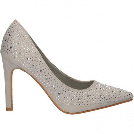 Pantofi dama, de gala, cu strasuri si toc inalt