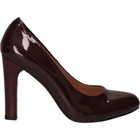 Pantofi de gala, bordo, cu toc robust