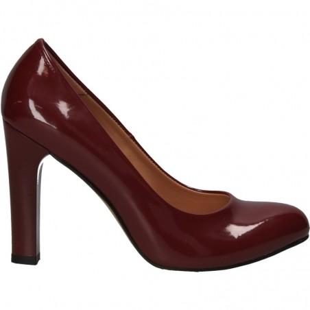 Pantofi de lac, eleganti, cu toc robust