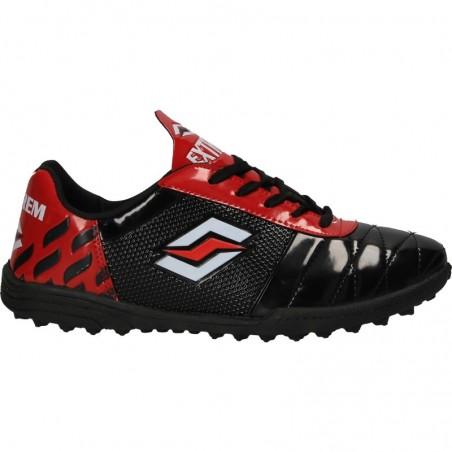 Pantofi sport, negru cu rosu, pentru barbati