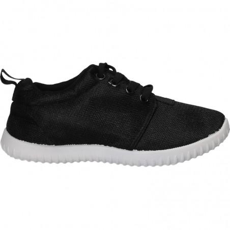 Pantofi textili, negri, pentru copii
