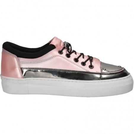 Pantofi casual glamour, cu talpa inalta