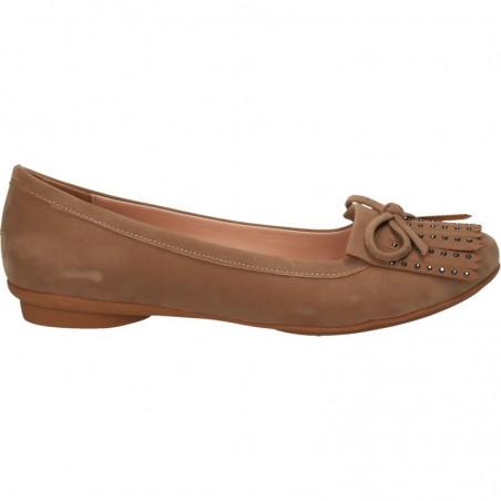 Pantofi universali de dama, cu franjuri si funda