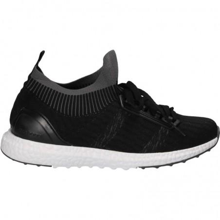 Pantofi negri, sport, cu tricot, pentru barbati