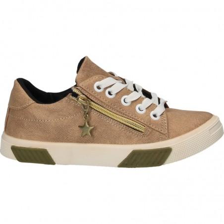 Pantofi Sport Fete Bej cu Accesorii Aurii