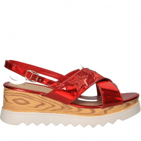 Sandale rosii moderne si comode, de dama