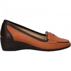 Pantofi clasici, cu platforma, piele naturala