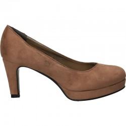 Pantofi clasici, maro deschis, cu toc mediu
