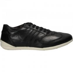 Sneakers negri, piele naturala