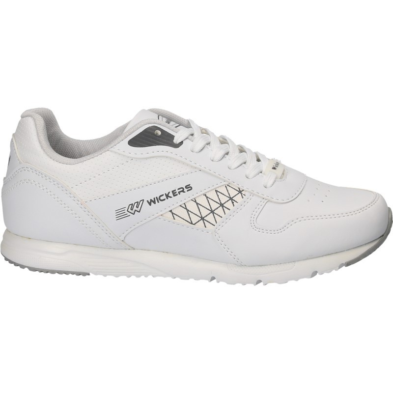 Pantofi barbatesti, albi, sport, cu insertii
