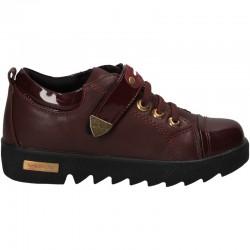 Pantofi moderni, bordo, pentru fete
