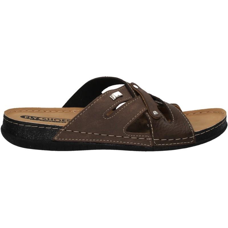 Saboti barbatesti, maro, marca Fly Shoes