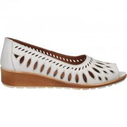 Pantofi femei, de vara, din piele, decupati