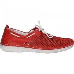 Pantofi rosii, piele...