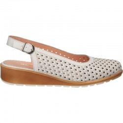 Pantofi de vara, din piele, cu platforma
