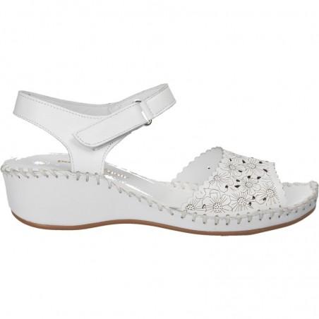 Sandale din piele naturala alba, pentru femei