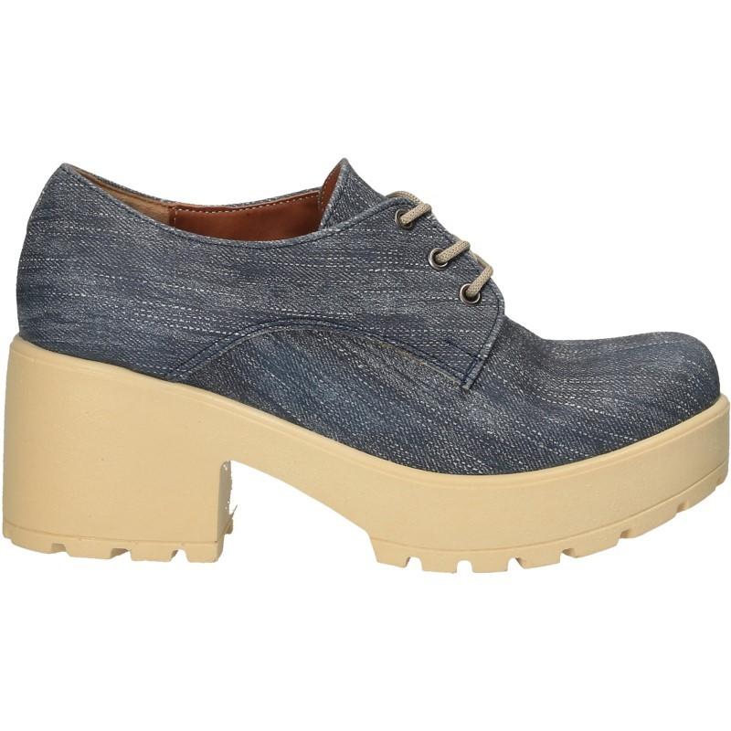 Pantofi fashion, dama, imprimeu blug