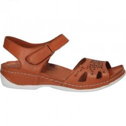 Sandale fashion, florale, din piele