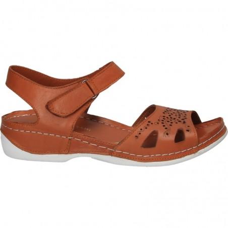 Sandale fashion, motive florale, piele naturala