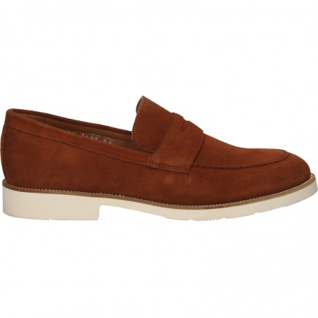 Pantofi barbatesti, fara siret, velur maro