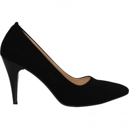 Pantofi de gala, catifea, cu toc inalt