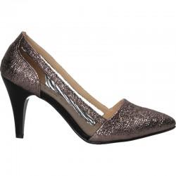 Pantofi glamour, cu plasa, stil urban