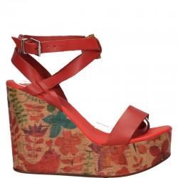 Sandale fashion, platforma mare, piele