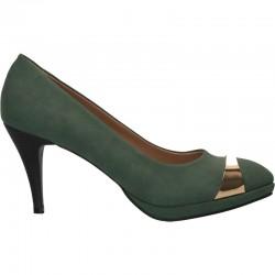 Pantofi femei, cu toc, culoarea verde