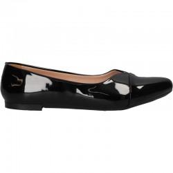 Pantofi casual, lac negru, pentru femei