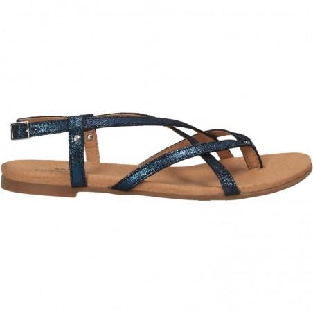 Sandale glamour, flip flops, piele naturala