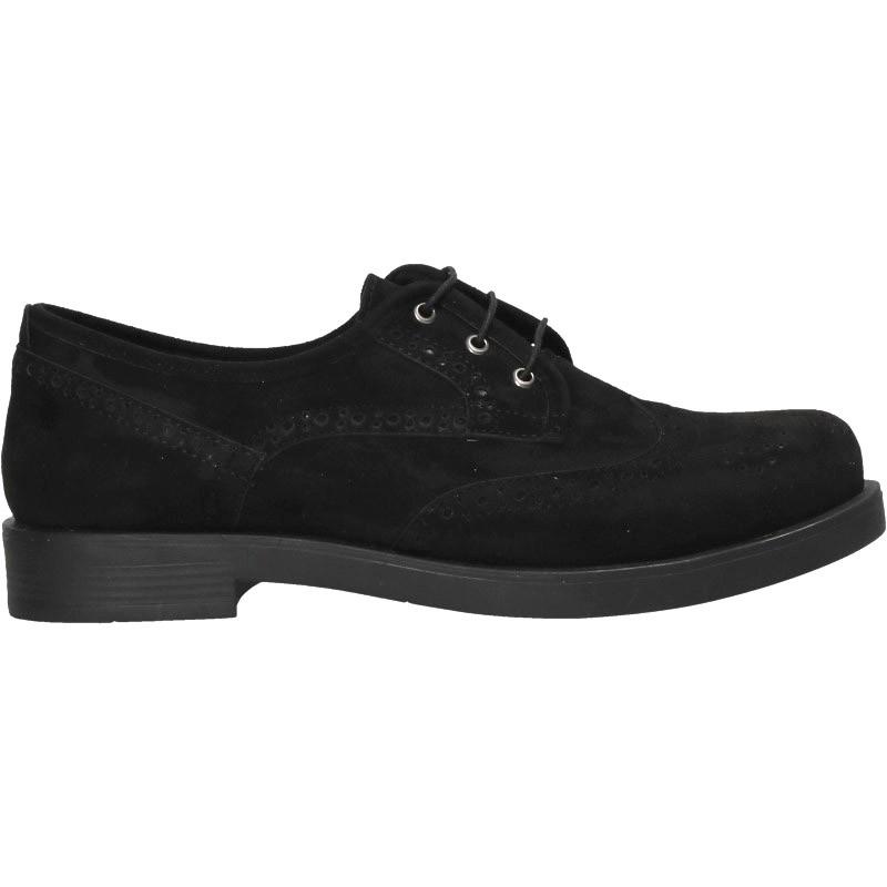 Pantofi stil Oxford, negri, de dama