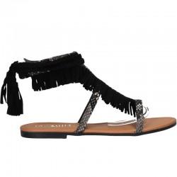 Sandale boho, cu franjuri, femei