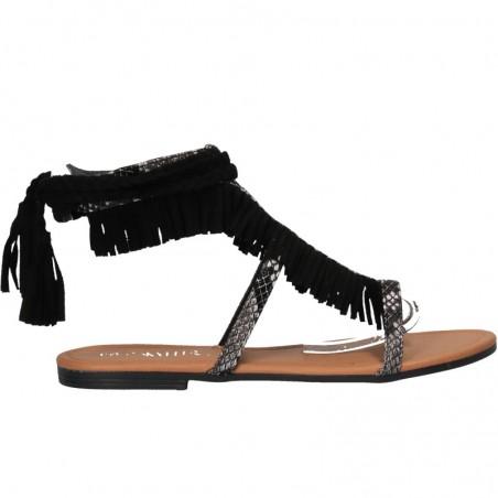 Sandale boho, cu franjuri, pentru femei