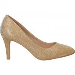 Pantofi aurii, lurex, pentru femei