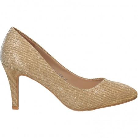 Pantofi eleganti, aurii, lurex, pentru femei