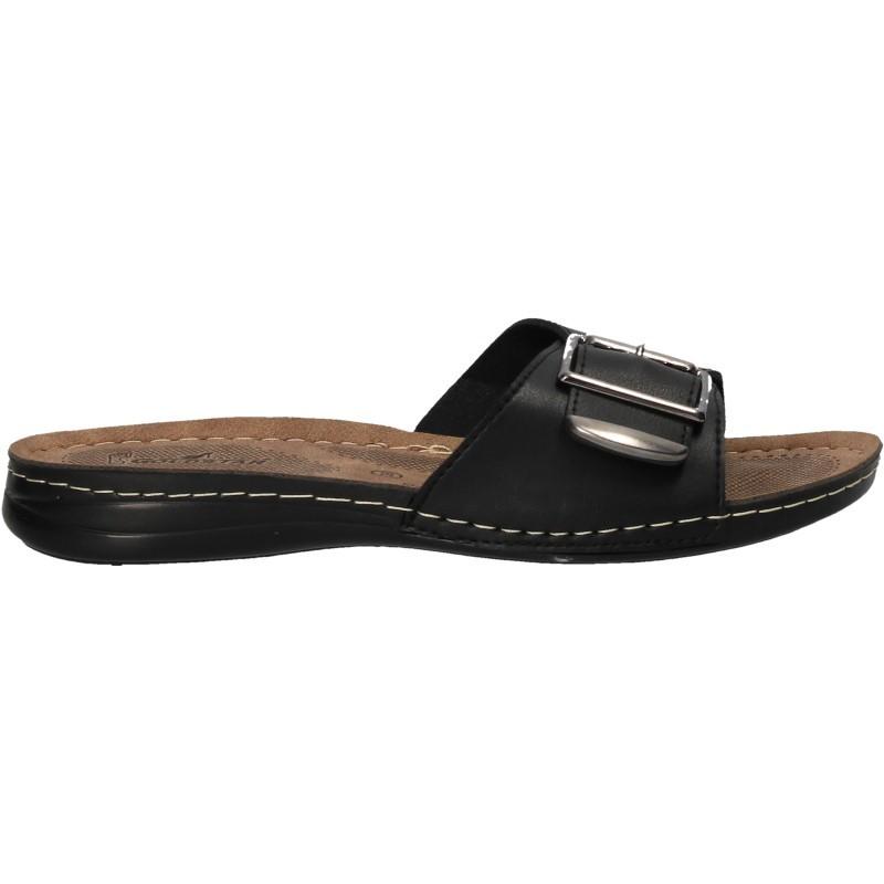 Papuci negri, moderni, de dama