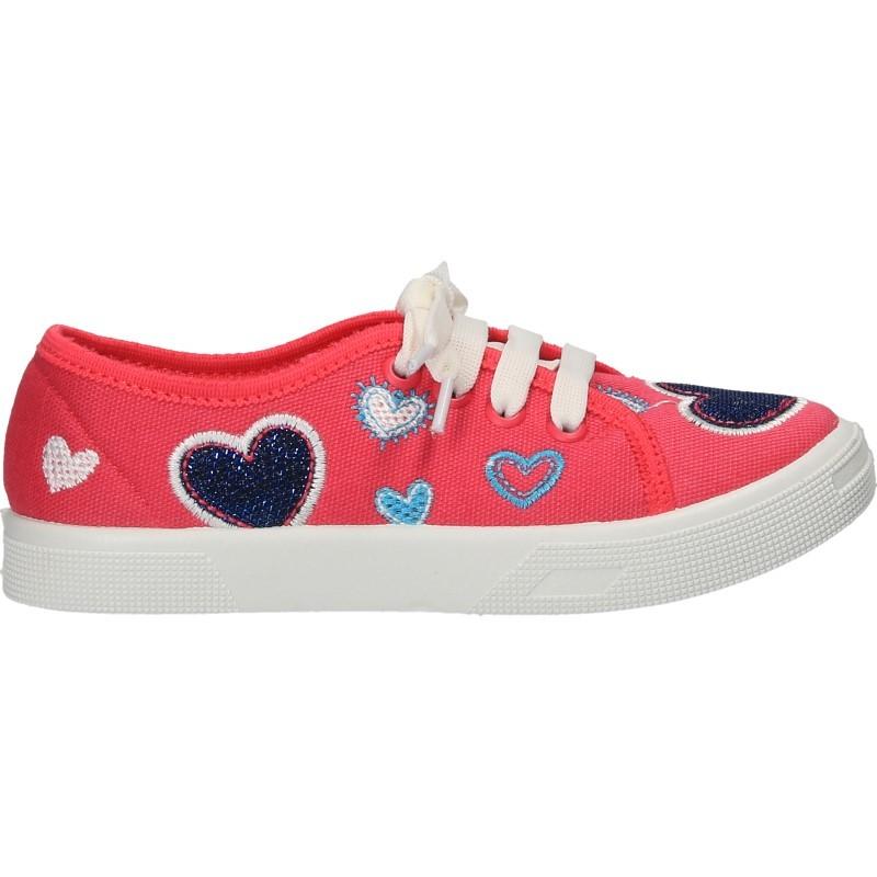 Tenisi roz cu inimioare, pentru fetite