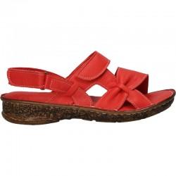 Sandale dama, trendy, rosii, piele