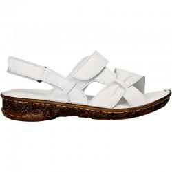 Sandale de dama, albi, din piele