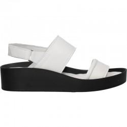 Sandale fashion, albe, piele naturala